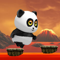 Panda Run Volcano - Planet Earth Day Version