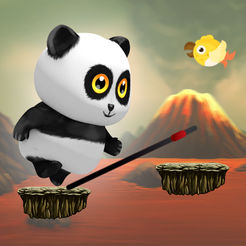 Panda Mania Jumper - Jump the Bamboo Game